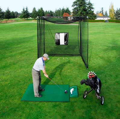 golf cages and complete barrier netting pole installations