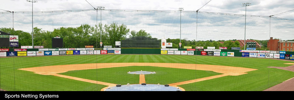 Safety Netting for Baseball Fields and Other Sport Applications